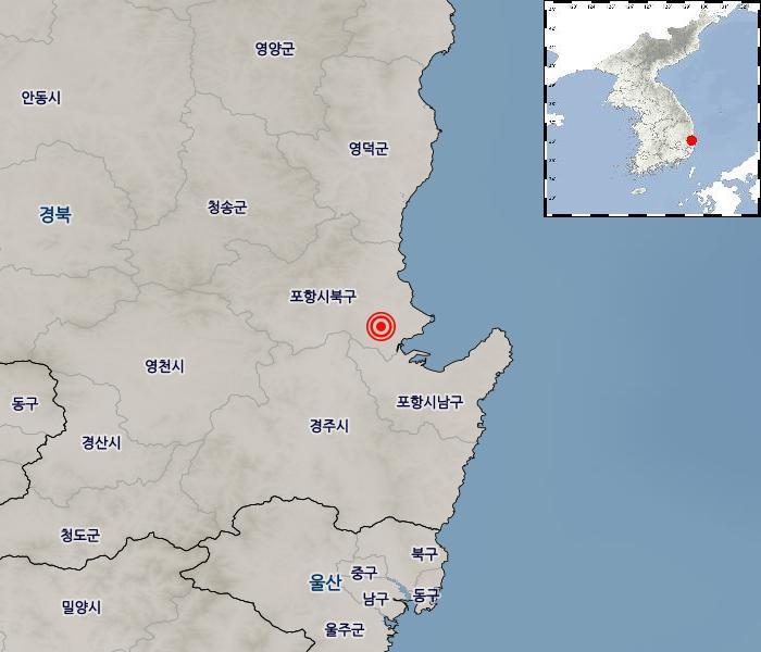 지진/지진해일 발생 위치 설명 이미지