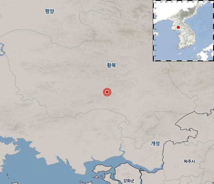 [지진정보] 북한 황해북도 평산 서북서쪽 9km 지역 / 2019年 05月 17日(星期五) 11:27:00