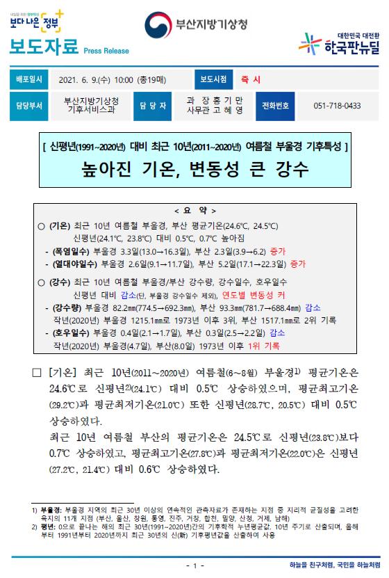 [보도자료] 신평년 대비 최근 10년 여름철 부울경 기후특성.PNG