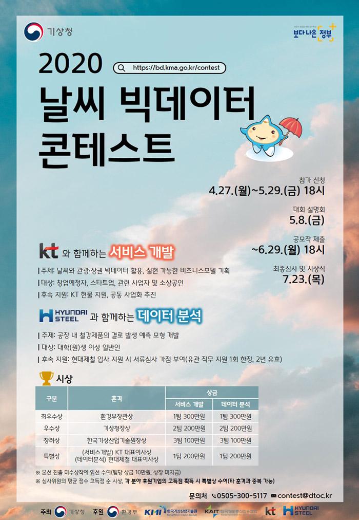 2020 날씨 빅데이터 콘테스트 개최