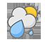 구름많고 비