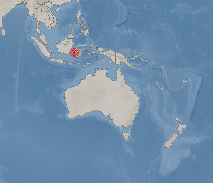 [국외지진정보] 인도네시아 서 술라웨시 마무주 남쪽 36km 지역 / 2021年 01月 15日(金) 03:52:00